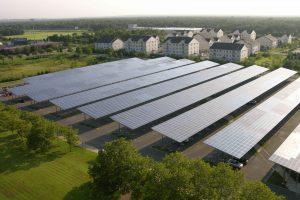 Abris parking photovoltaïque