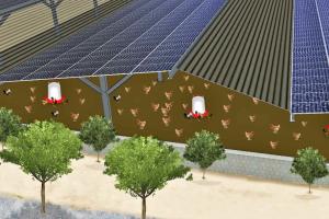 Volière photovoltaïque